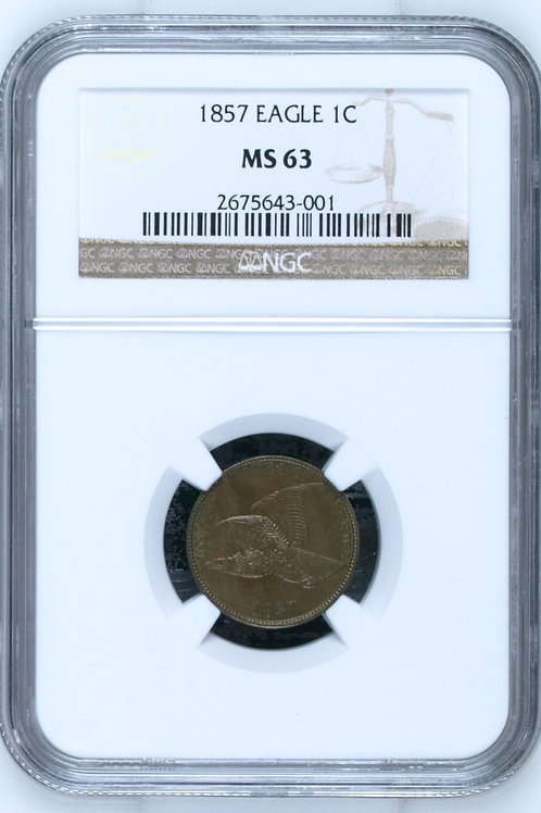 1857 Flying Eagle Cent NGC MS63
