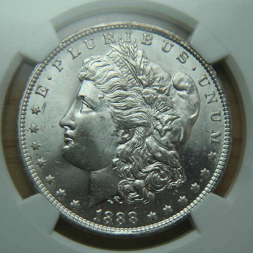 1888-O Morgan Silver Dollar NGC MS64
