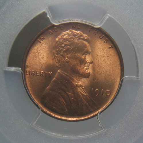 1910 Lincoln One Cent PCGS MS65RD & CAC