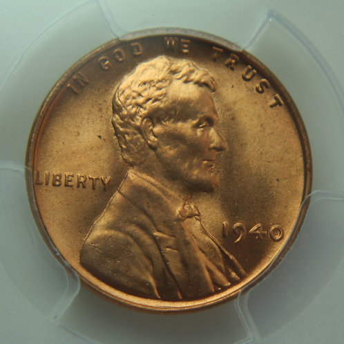 1940 Lincoln One Cent PCGS MS65 Red