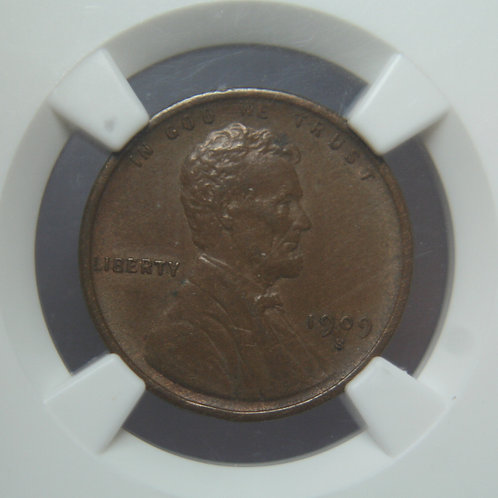 1909-S VDB Lincoln One Cent NGC AU58BN