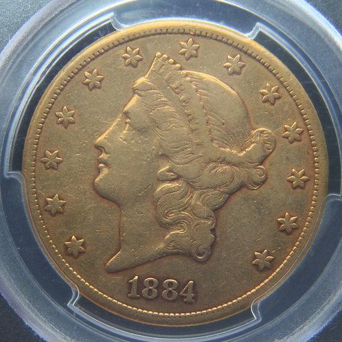 1884-CC $20 Double Gold Eagle PCGS VF35