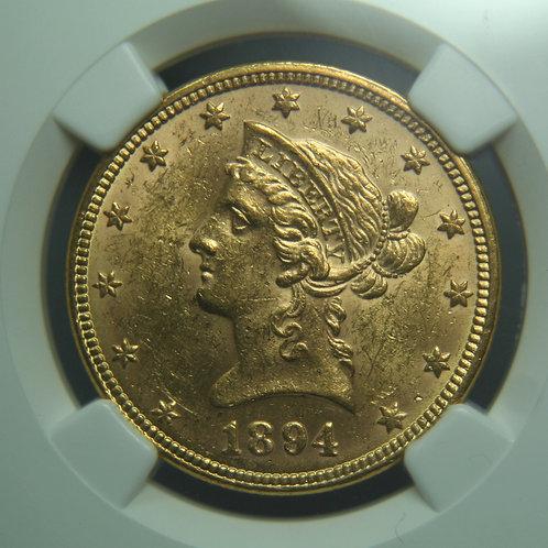 1894 $10.00 Gold Eagle NGC MS61