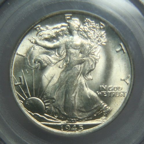 1945-S Liberty Walking Half Dollar PCGS MS64