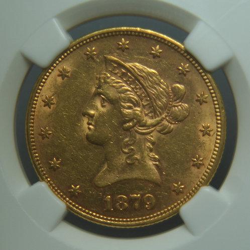 1879 $10.00 Gold Eagle NGC AU58