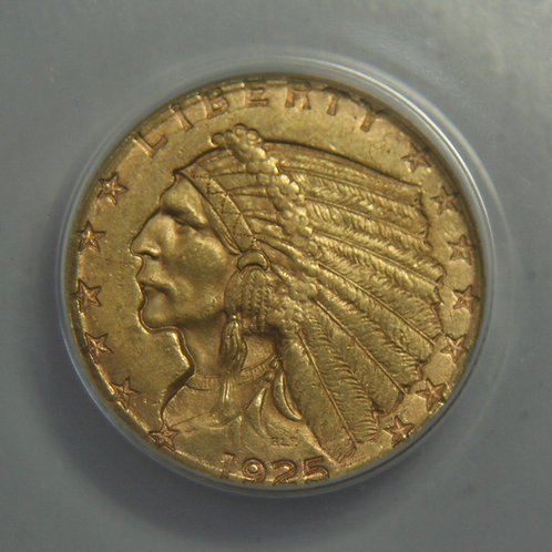 1925-D $2.50 Quarter Gold Eagle ANACS AU55