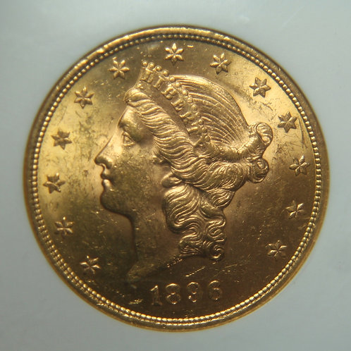 1896 $20 Double Gold Eagle NGC MS61
