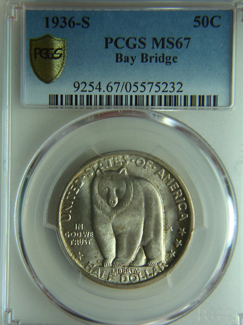 1936-S Bay Bridge Half Dollar PCGS MS67