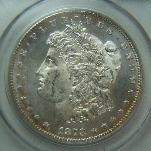 1878-S Morgan Silver Dollar PCGS MS63