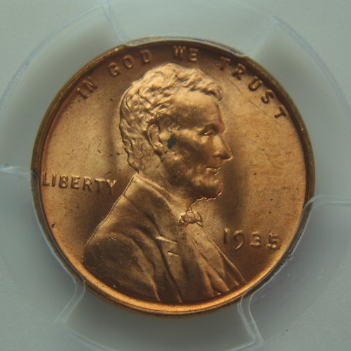 1935 Lincoln One Cent PCGS MS64 RED