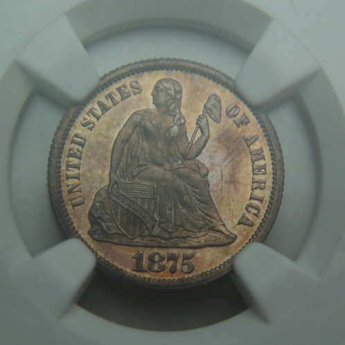 1875 Liberty Seated Proof Dime NGC PF64