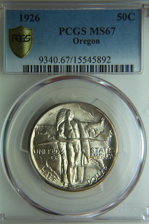 1926 Oregon Trail Half Dollar PCGS MS67