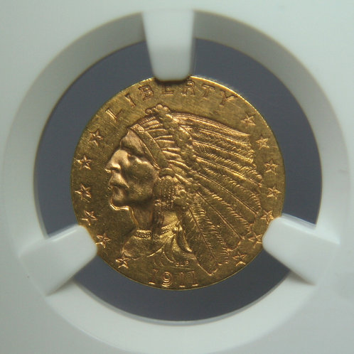 1911 $2.50 Quarter Gold Eagle NGC AU58