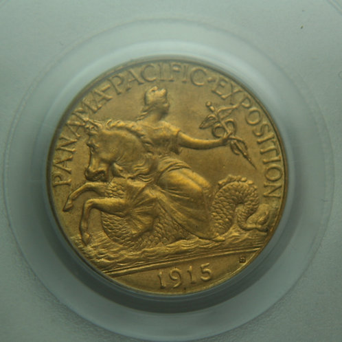1915-S Panama Pacific $2.50 Gold Coin PCGS MS63