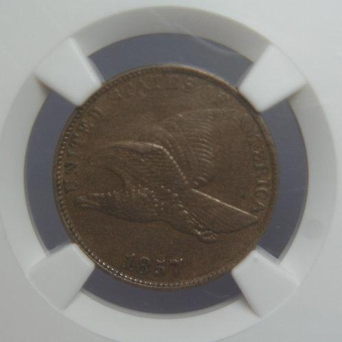1857 Flying Eagle One Cent NGC AU53