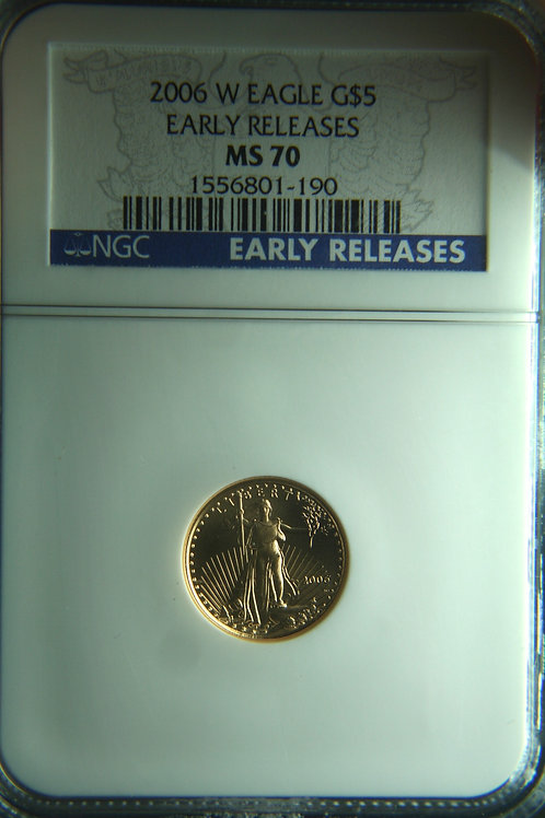 2006-W $5 American Gold Eagle 1/10 NGC MS70