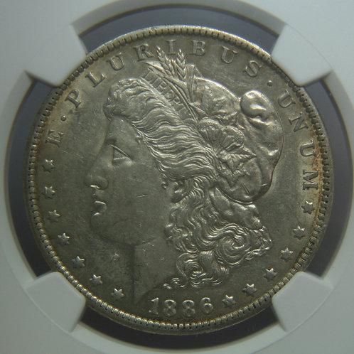 1886-O Morgan Silver Dollar NGC AU53