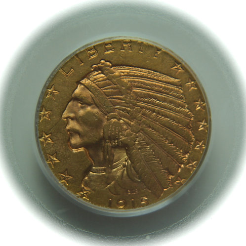 1915 $5.00 Half Gold Eagle PCGS AU58