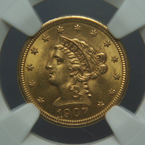 1907 $2.50 Quarter Gold Eagle NGC MS63