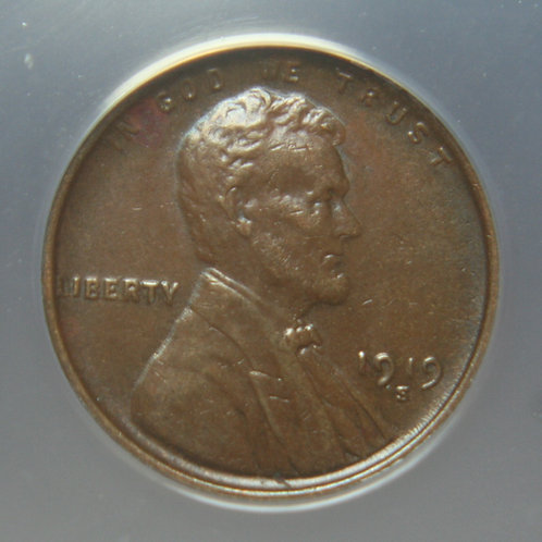 1919-S Lincoln One Cent ANACS MS61 BRN