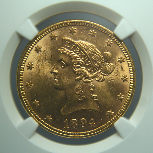 1894 $10.00 Gold Eagle NGC MS62