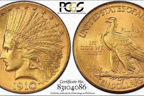 1909-D $10 Gold Eagle PCGS MS62
