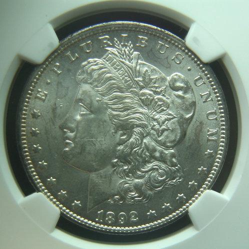 1892-CC Morgan Silver Dollar NGC MS62