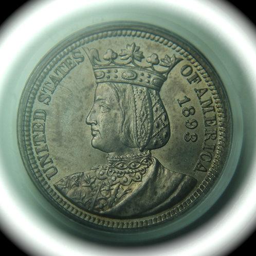 1893 Isabella Commemorative Quarter PCGS MS64