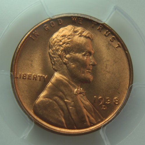 1938-D Lincoln One Cent PCGS MS66 Red