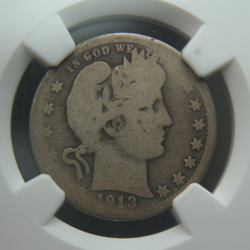 1913-S Barber Quarter NGC AG3