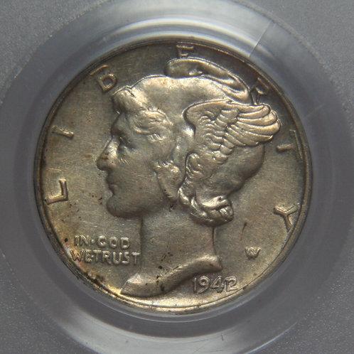 1942/1 Mercury Dime PCGS XF45