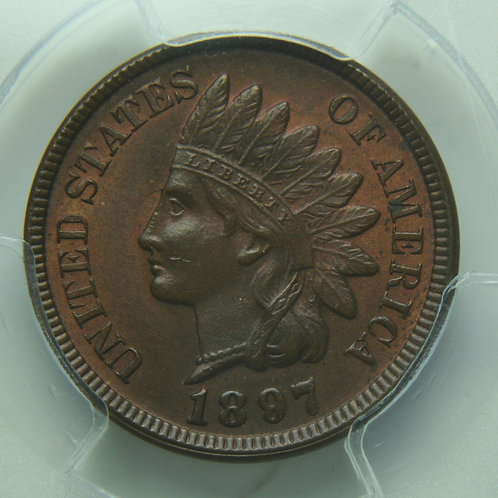 1897 Indian Head One Cent PCGS MS64 BN