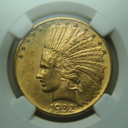 1932 $10 Gold Eagle - NGC MS62
