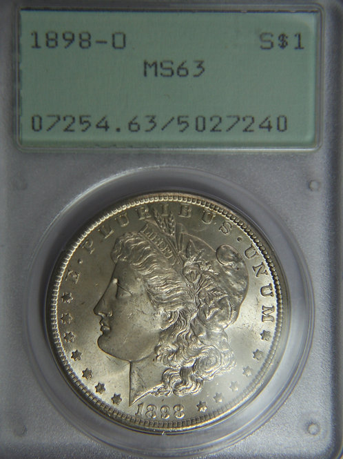 1898-O Morgan Silver Dollar - PCGS MS63