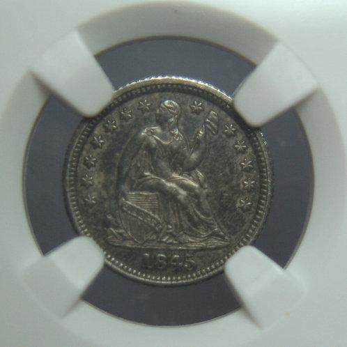 1845/1845 Liberty Seated Half Dime NGC AU55