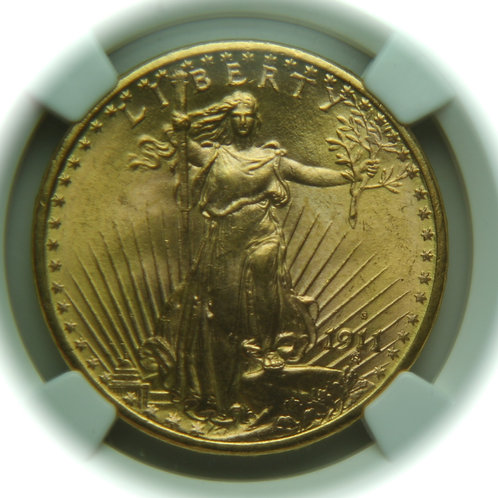 1911-S $20 Double Eagle NGC MS65