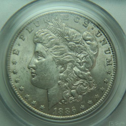 1886-O Morgan Silver Dollar PCGS AU58