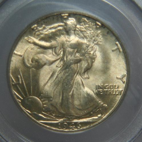 1946-D Liberty Walking Half Dollar PCGS MS65