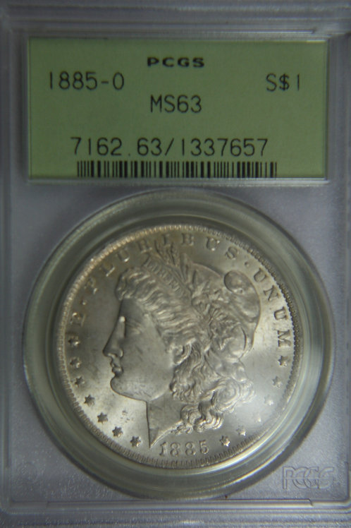 1885-O Morgan Silver Dollar - PCGS MS63