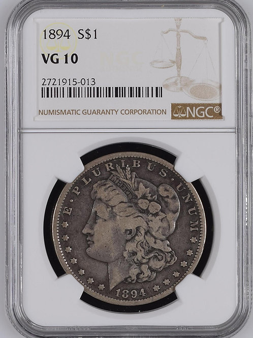 1894 Morgan Silver VG10