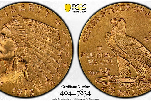 1915 $2.50 Indian Head Gold Quarter Eagle PCGS MS62
