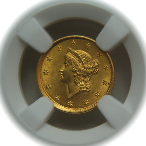 1854 $1.00 Gold Liberty Type One NGC MS62
