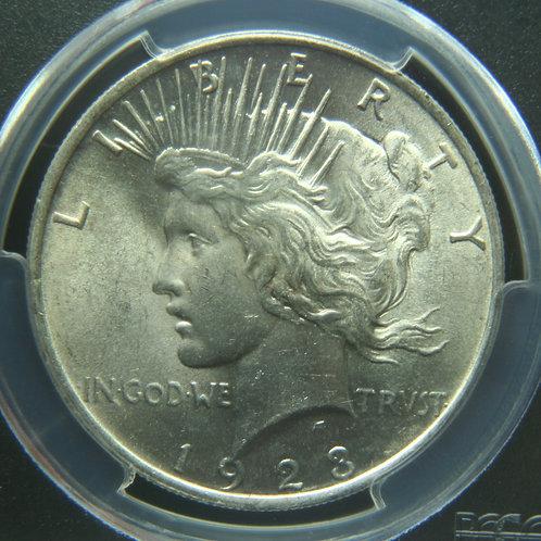 1923 Peace Silver Dollar PCGS MS63
