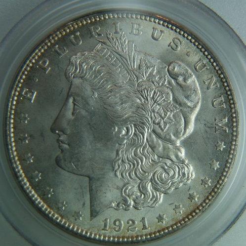1921-D Morgan Silver Dollar PCGS MS64