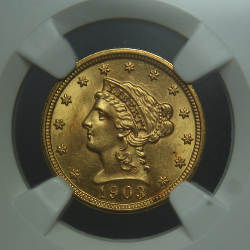 1903 $2.50 Quarter Gold Eagle NGC MS63
