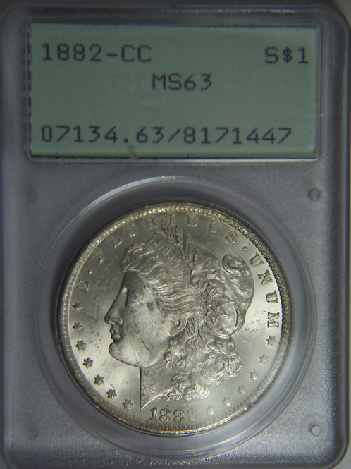 1882-CC Morgan Silver Dollar - PCGS MS63