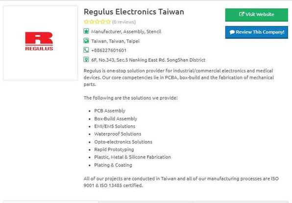 PCB Directory- Regulus Company Profile.J