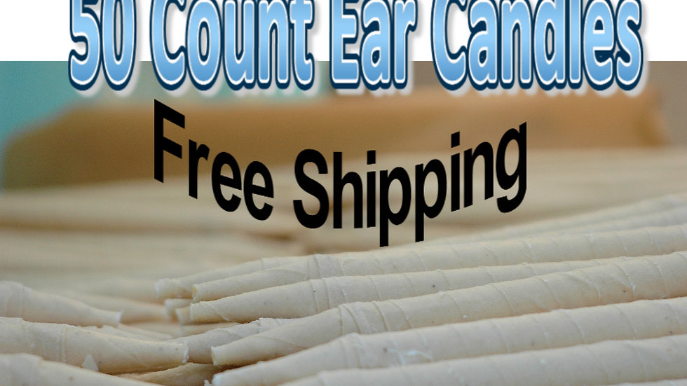 50 Count Natural Ear Candles