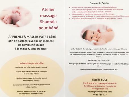 Atelier massage Shantala pour bébé
