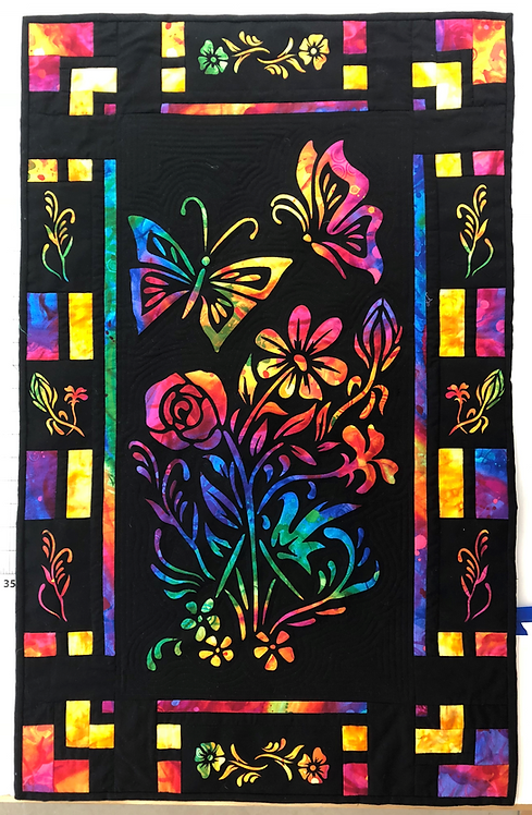 Butterflies and Blossoms Quilt Pattern/Laser Set